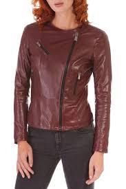 <b>Кожаная куртка AD MILANO</b> арт DAR591_RED_PURPLE ...