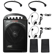 sound system wireless: bl tr battery powered dual channel wireless microphone portable pa system