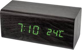 "<b>Часы</b>-будильник <b>Perfeo</b> ""<b>Block</b>"" <b>PF</b>-<b>S718T</b> (чёрный, зелёный ..."