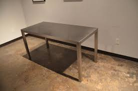 dining table stainless steel