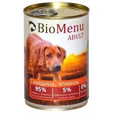 Корм для собак <b>BioMenu Adult консервы</b> для собак с говядиной и ...