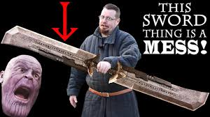 So much WRONG with <b>THANOS DOUBLE BLADED</b> SWORD from ...