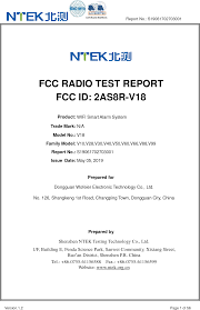 V18 <b>WIFI Smart Alarm System</b> Test Report S19061702703001-2.4 ...