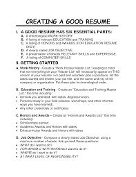preparing a good resume tk category curriculum vitae