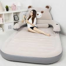 Inflatable Bed Cartoon Little Bear Design Flocked PVC Potable ...