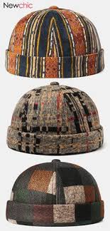 Vintage Wide Brim Church Cap Plaid <b>Gentleman</b> Hats Jazz Caps ...
