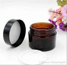 <b>20g 30g 50g</b> Brown Glass Cream Jar <b>High Quality</b> 30ml Cosmetic ...