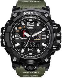 <b>SMAEL</b> Military <b>Watch</b>, <b>Sports</b> Analog <b>Digital</b> Quartz <b>Watch</b> Dual ...