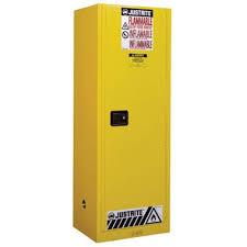 Justrite® Manual Slimline Flammable Cabinet, <b>22</b> gallon, <b>Choose</b> ...