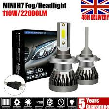 <b>2X 110W 22000LM Mini</b> H7 LED Headlight Conversion Kit Fog ...