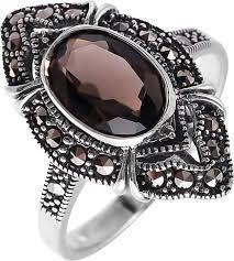 Серебряный перстень <b>Марказит HR1049</b>-<b>topaz</b>-<b>rauh</b>-<b>mr</b> c ...