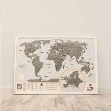 True Map Plus | <b>Скретч карта мира</b> со стирающимся слоем купить ...