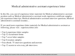 medical administrative assistant experience lettermedical administrative assistant experience letter in this file  you can ref experience letter materials for