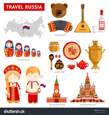 travel russia set icons russian architecture stock vector travel to russia set of icons of russian architecture food costumes traditional