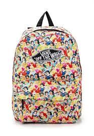 Ультрамодный женский рюкзак от <b>Vans</b> оформлен стильным ...