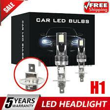 2x <b>H1</b> CAR LED Headlight Kits <b>110W</b> 20000LM FOG Light Bulbs ...