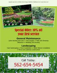 Great Landscaping Advertising Ideas Free Lawn Care Templates ...