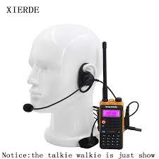 <b>2 Pin D Shape</b> Tactical Headset PTT Mic Earhook Earpiece ...