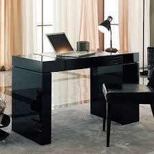 l shape black black color furniture office counter design