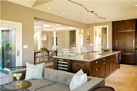 Fascinating Open Floor Plans for Homes Architecture   QISIQ    Architecture Large size Open Kitchen Floor Plans With Mini Pendant Lights For Kitchen Island House