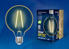 <b>LED</b>-<b>G80</b>-<b>4W</b>/<b>GOLDEN</b>/<b>E27 GLV21GO Лампа</b> светодиодная ...