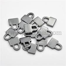 Wholesale <b>Non</b>-<b>Magnetic</b> Synthetic Hematite Lock Pendants, Black ...