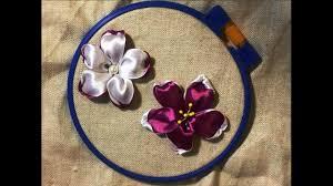 Красивый и простой цветок из атласной ленты /A beautiful and ...