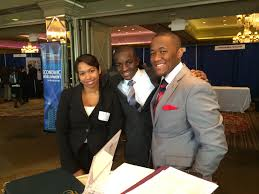 employers student affairs mercy college students at recruit westchester career fair