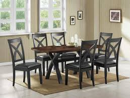 casual dining furniture sets two toned dining table  casual dining room sets