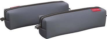 <b>Пенал</b> ErichKrause <b>Квадро Mini</b> Grey, 47342, серый, 21 х 5 х 5 см ...