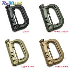 Molle Tactical Backpack EDC Shackle Carabiner Snap D Ring Clip ...