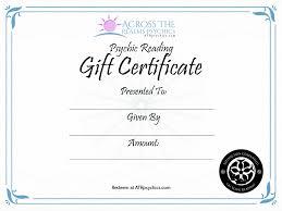 gift certificate psychic readings tarot lenormand reiki atr gift certificates