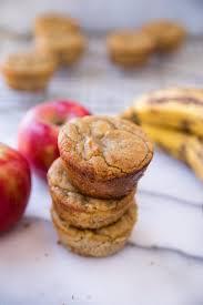 Flourless Banana Apple Muffins - Kim