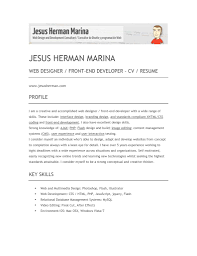front end web developer resume getessay biz herman marina web designer front end developer cv resume by icq15566 throughout front end web developer