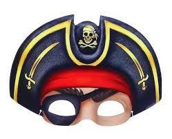 Аксессуар для праздника <b>Сималенд Маска Пират</b> в шляпе с ...