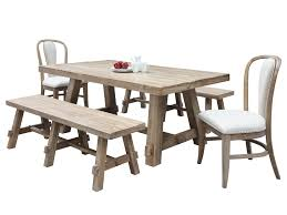 Hickory Dining Room Table View In Gallery Weathered Trestle Table In A Light And Airy Dining