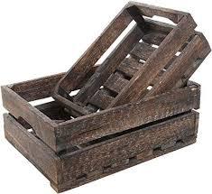 Amazing offer on MyGift <b>Set 2</b> Country Rustic Finish Wood <b>Storage</b> ...