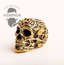 <b>Бусина Triball Skull</b>, бронза - купить в интернет магазине