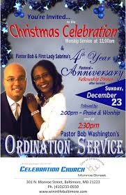 celebration church monroe street baltimore maryland christmas celebration christmas celebration ordination