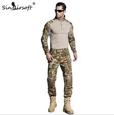 military uniform shirt pants outdoor airsoft paintball multicam tactical ghillie suit camouflage army combat hunting clothes