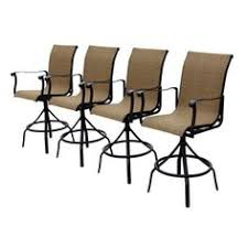 bar height patio chair: allen roth set of  safford swivel sling cast aluminum patio bar height chair