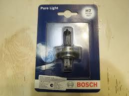 Обзор на <b>Лампа</b> галогенная <b>BOSCH H7</b> Pure Light 12V <b>55W</b>, 1 шт ...