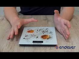 Электронные <b>кухонные весы ENDEVER</b> CHIEF-503 - YouTube