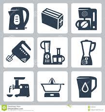Of Kitchen Appliances Kitchen Appliances Vector Silhouette Icon Set Stock Vector Image