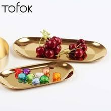 Tofok скандинавский стиль INS <b>овальная металлическая тарелка</b> ...