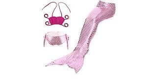<b>3pcs</b> Girls' <b>Mermaid Tail</b> Swimwear Set for Girls Kids, Mermaid ...