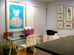 home office art studio trendy craft room photo in richmond best office art