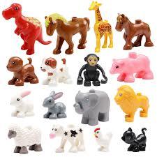 large blocks of animals hippo <b>giraffe elephant crocodile</b> leapard ...