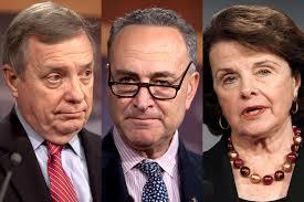 Democrats worry over Obamacare's rocky start Dick Durbin, Chuck Schumer, Dianne Feinstein (Credit: Jeff Malet, maletphoto.com/Reuters/Hyungwon Kang) - durbin_schumer_feinstein