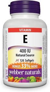 Webber Naturals Vitamin <b>E Natural</b> Source Softgel, <b>400 IU</b>: Amazon.ca